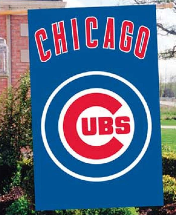 Party Animal - Chicago Cubs Applique House Flag