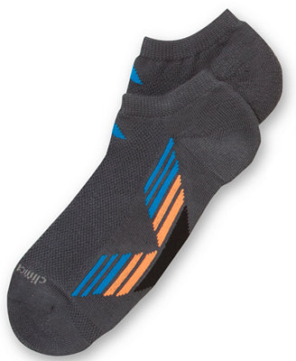 adidas Men' Climacool No-Show Socks 2-Pack