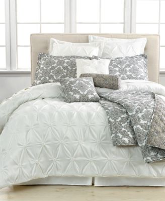Jasmine White 10 Piece Queen Comforter Set