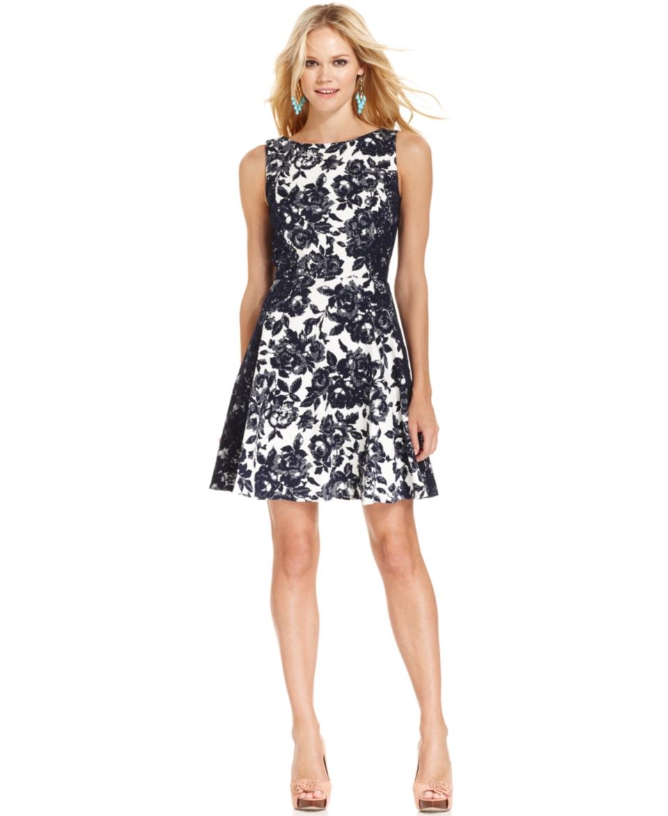 Jessica Simpson Sleeveless Floral Print Dress   Dresses   Women