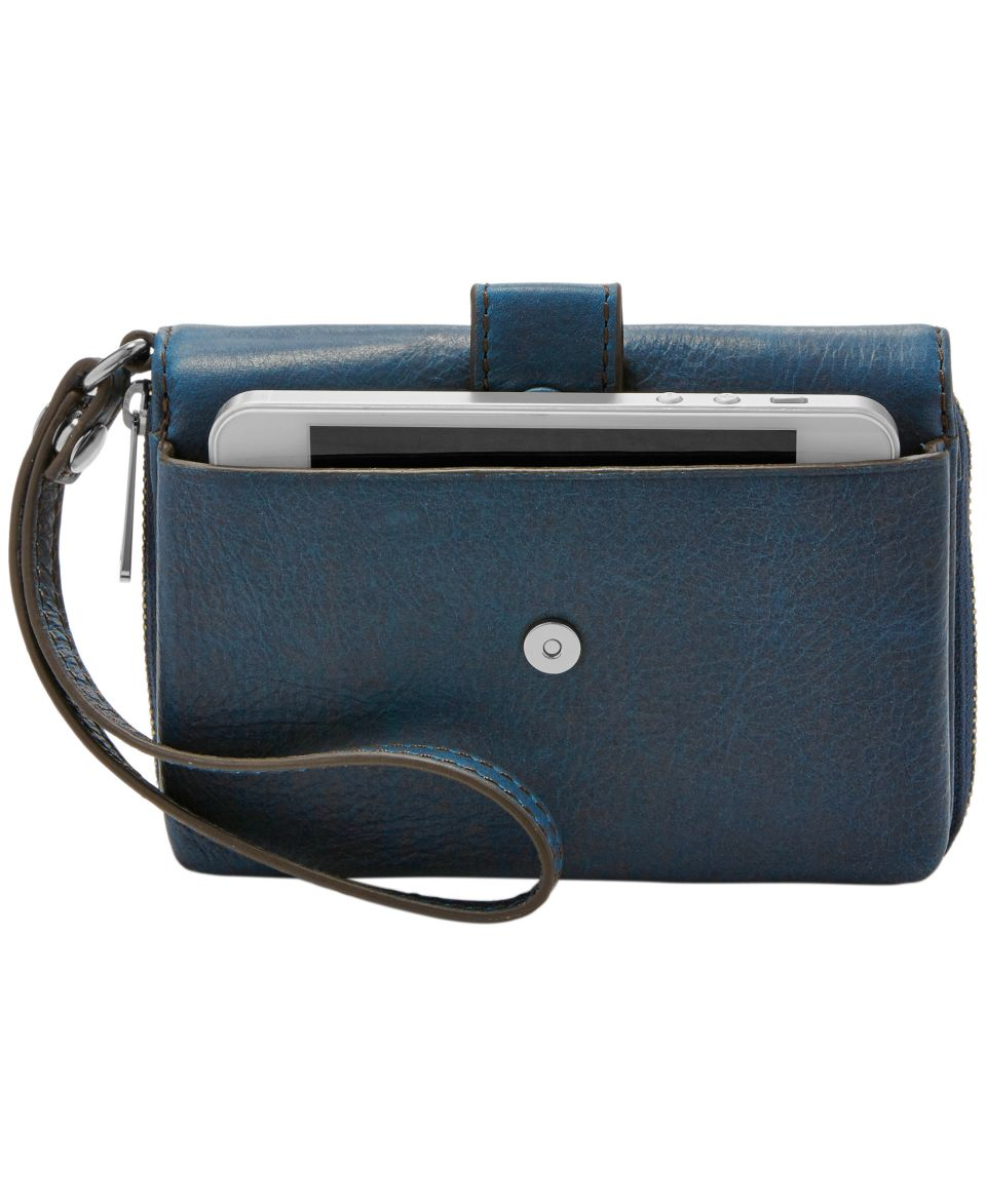Fossil Abbot Leather Flap Clutch Wallet   Handbags & Accessories