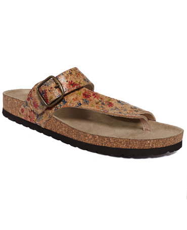 White Mountain Carly Footbed Sandals Shoes Macy S