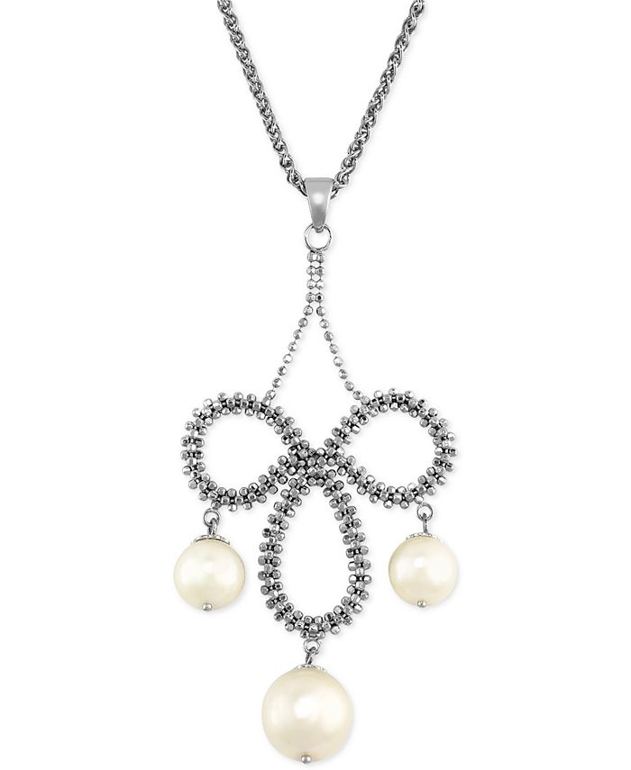 EFFY Collection - Cultured Freshwater Pearl Chandelier Pendant Necklace in Sterling Silver (8-1/2mm)