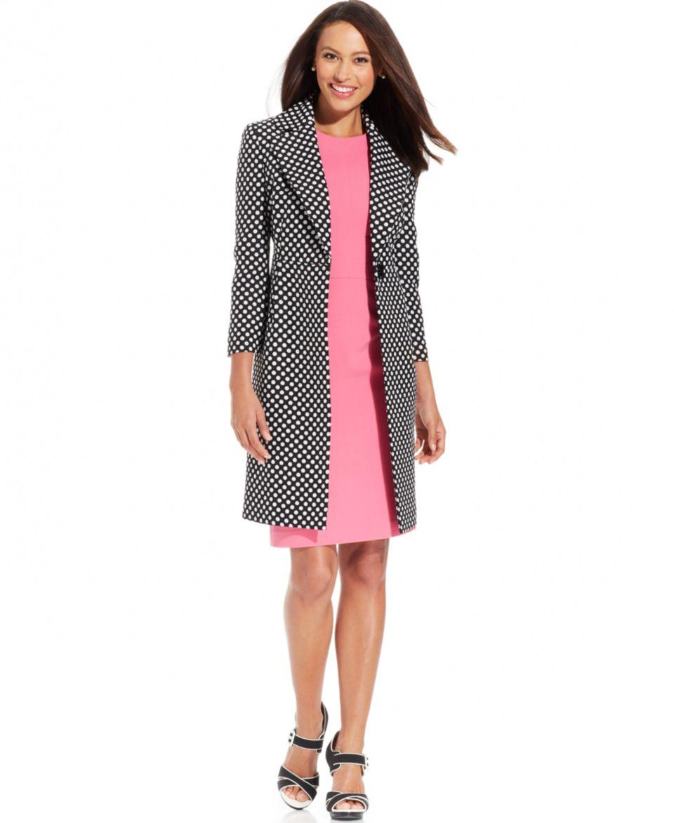 Anne Klein Three Quarter Sleeve Printed Jacket   Suits & Suit Separates   Women