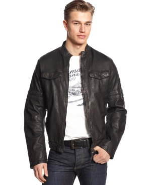 Armani Jeans Leather Patch Jacket $ 1005.00