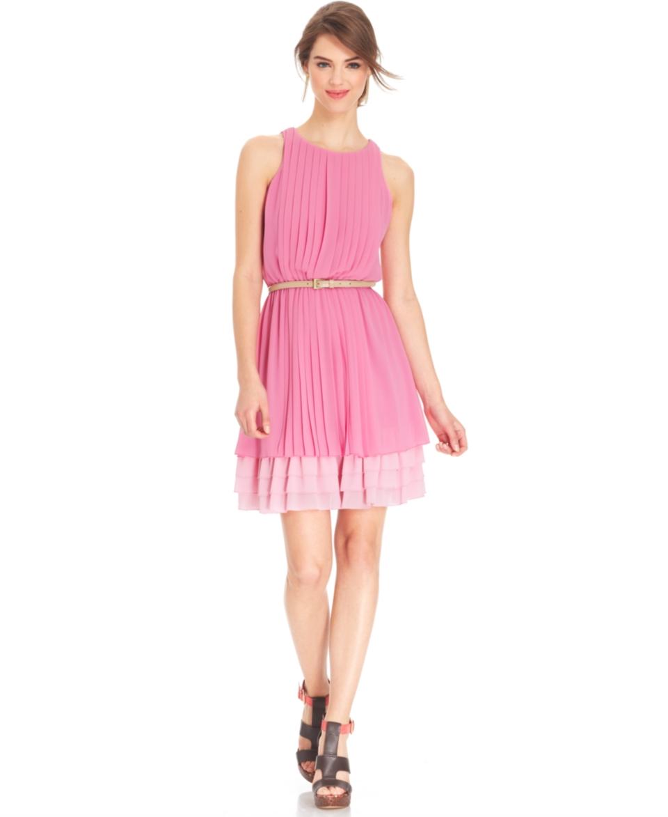 Jessica Simpson Sleeveless Pleated Blouson Dress   Dresses   Women