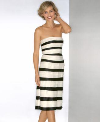 Bcbg dress black and white