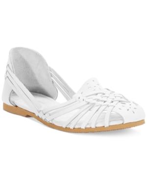 White Mountain Catamaran Huarache Flats Women's Shoes