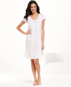 Miss Elaine - Silky Knit Short Sleeve Gown