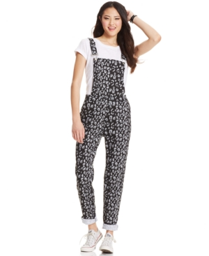 Planet Gold Juniors' Straight-Leg Overalls $ 24.99