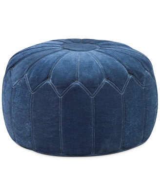 Elise Fabric Accent Pouf, Direct Ship - Furniture - Macy's