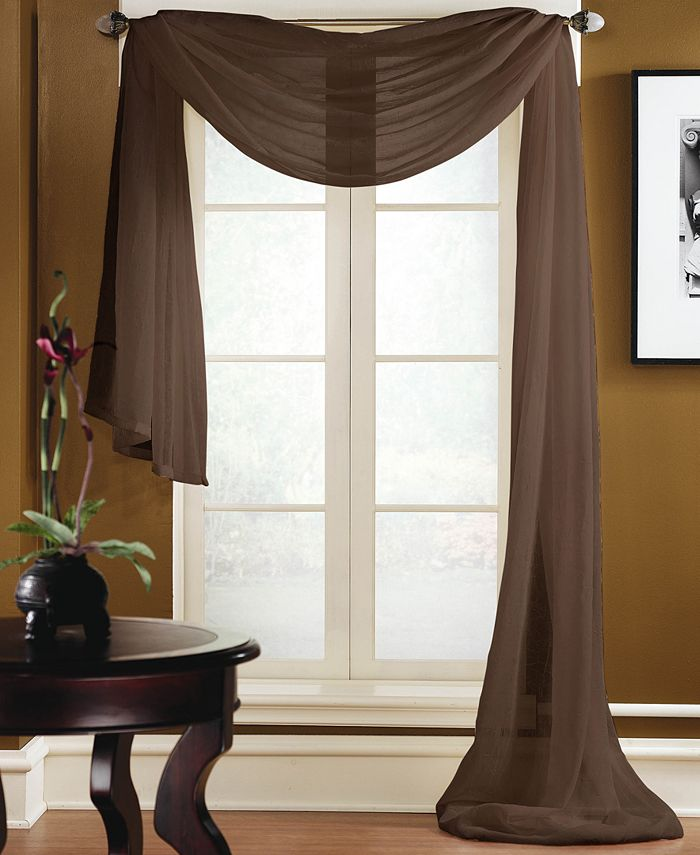 Miller Curtains Preston 48 X 216 Sheer Scarf Valance Reviews Window Treatments Blinds Macy S
