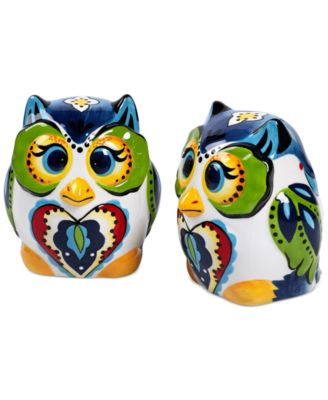 Espana Bocca Figural Owl Salt and Pepper Shakers