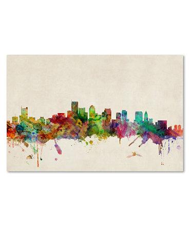 39 Boston Skyline 39 Canvas Print By Michael Tompsett Wall