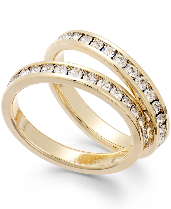Charter Club Glass Stone Ring Duo & Reviews - Rings - Jewelry & Watches - Macy's