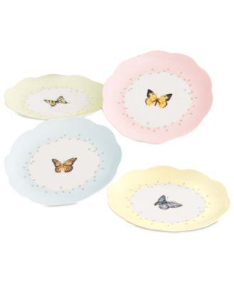 """Lenox """"Butterfly Meadow"""" Dessert Plates, Set of 4"""
