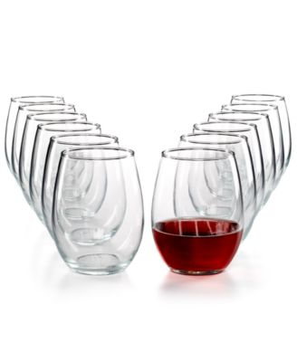 The Cellar Glassware Basics 12-Pc. Stemless Wine Set, Only at Macy's