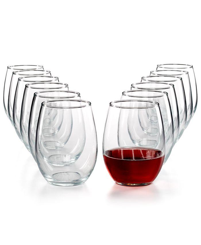 Martha Stewart Collection - Essentials 12-Pc. Stemless Wine Glasses Set