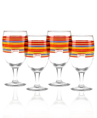 Fiesta Set of 4 Classic Stripe Goblets