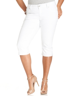Seven7 Jeans Plus Size Cropped Jeans, Ghost Town Wash