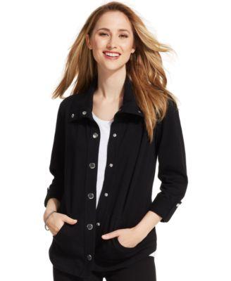 Styleco. Petite ThreeQuarterSleeve Knit Jacket