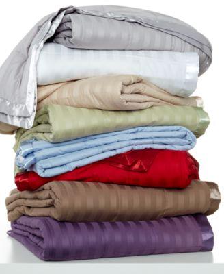 Charter Club Damask Stripe Down Alternative Full/Queen Blanket
