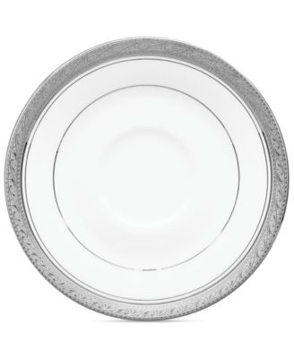 Noritake Dinnerware, Crestwood Platinum Saucer