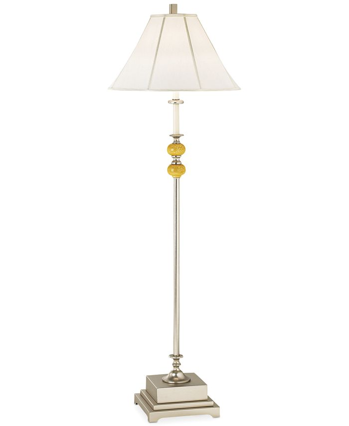 Pacific Coast - Brushed Nickel and Crackle Resin Floor Lamp