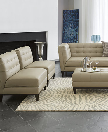 Milania Leather Sofa Living Room Collection Furniture Macy 39 S