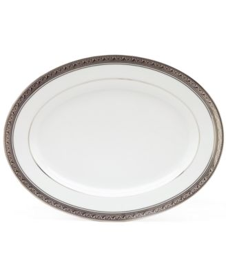 Noritake Dinnerware, Crestwood Platinum Oval Platter