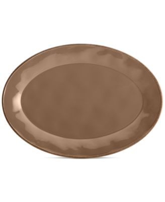 Rachael Ray Cucina Mushroom Brown Oval Platter