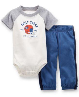Carter's Baby Boys' 2-Piece Built Tough Bodysuit & Pants Set