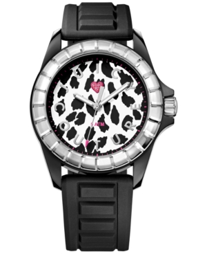 Juicy Couture Women's Juicy Sport Black Textured Silicone Strap Watch 40mm 1901160