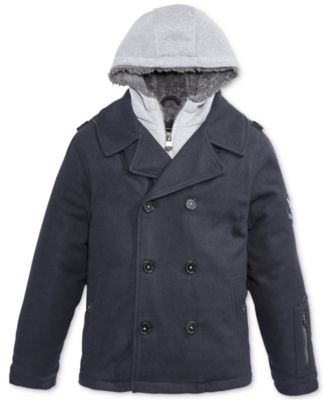 Hawke & Co. Outfitter Boys' Vestee Peacoat