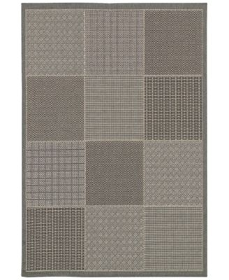 "Couristan Indoor/Outdoor Area Rug, Monaco 2469/2213 Vistimar Blue-Grey 5'3"" x 7'6"""