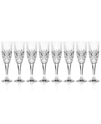 Dublin Champagne Flutes, Set of 8