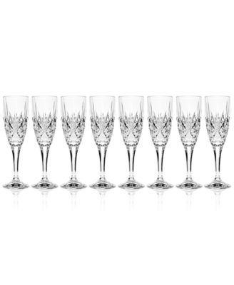 Dublin Champagne Flutes, Set of 8