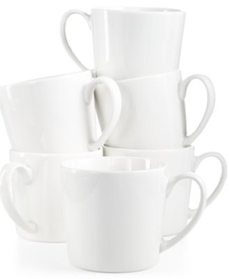 Martha Stewart Collection Everyday Entertaining Set of 6 Coffee Mugs