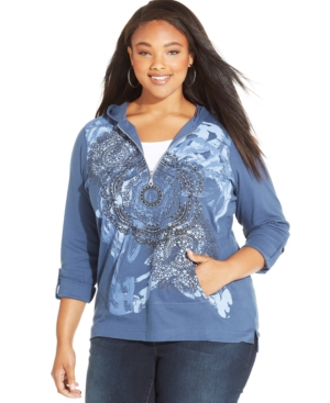 Style & co. Plus Size Printed Hoodie