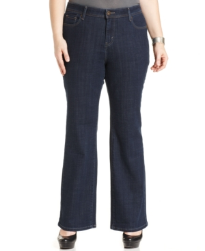 Levi's Plus Size 580 Defined-Waist Bootcut Jeans, Hutton Wash