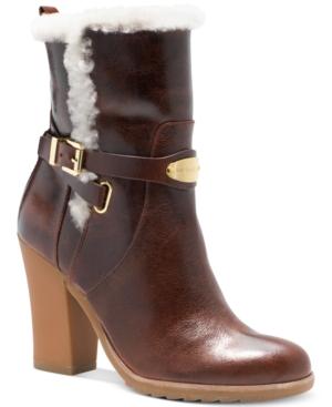 Michael Michael Kors Lizzie Ankle Boots Womens Shoes