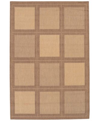 "CLOSEOUT! Recife Summit Natural/Cocoa 2'3"" x 11'9"" Indoor/Outdoor Runner"