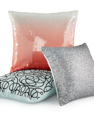 "INC International Concepts Martini Coral 20"" Square Decorative Pillow"