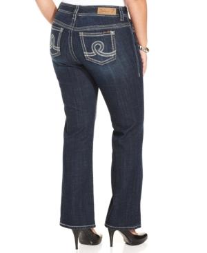 Seven7 Jeans Plus Size Bootcut Jeans, Fiction Wash