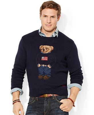 Polo Ralph Lauren Big and Tall Bear Pima Sweater