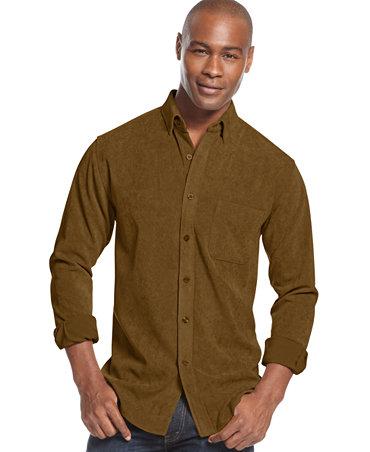 tasso elba big and tall solid corduroy shirt casual