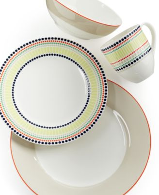 kate spade new york Dinnerware, Hopscotch Drive Taupe 4-Piece Place Setting