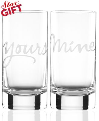kate spade new york Mine and Yours Highball Glasses Set