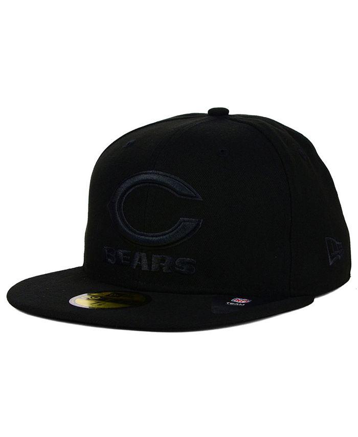 New Era - Chicago Bears Black on Black 59FIFTY Cap