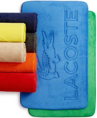 Lacoste Memory Foam Logo Rug